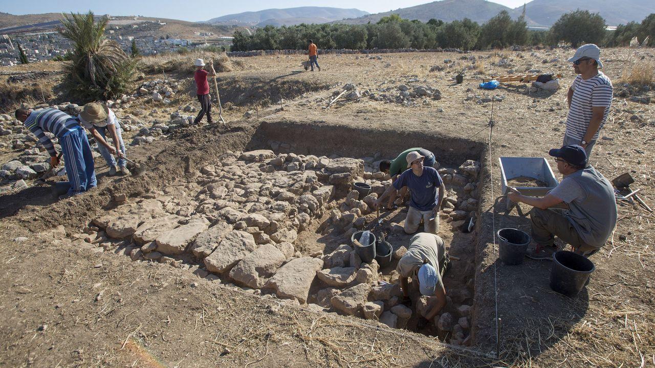 «Excavar en Palestina es un sueño».Manifestantes palestinos en Belén