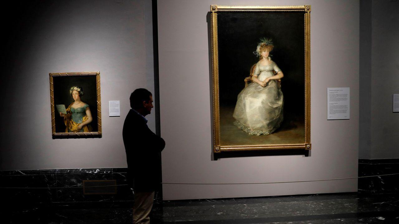 Talan la palmera que quedaba en Ravella.El cuadro de Goya fue una de las obras evacuadas