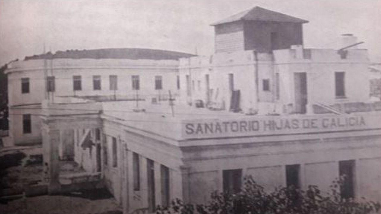 El hospital de Hijas de Galicia, en una imagen de 1925