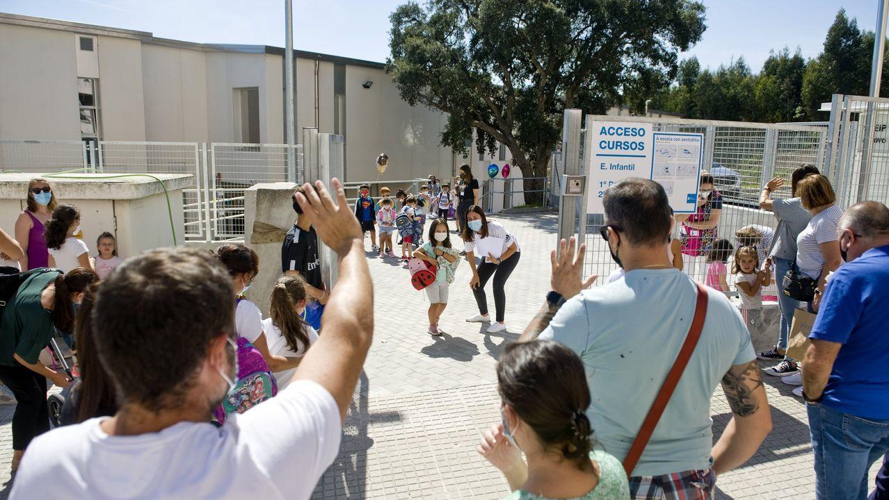 Imagen de archivo del primer día de clase en el CEIP Novo Mesoiro