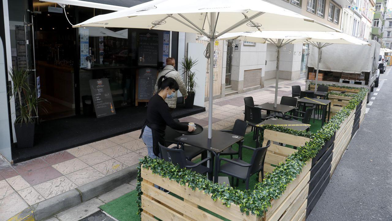 Terraza de un bar en el barrio lucense de A Milagrosa