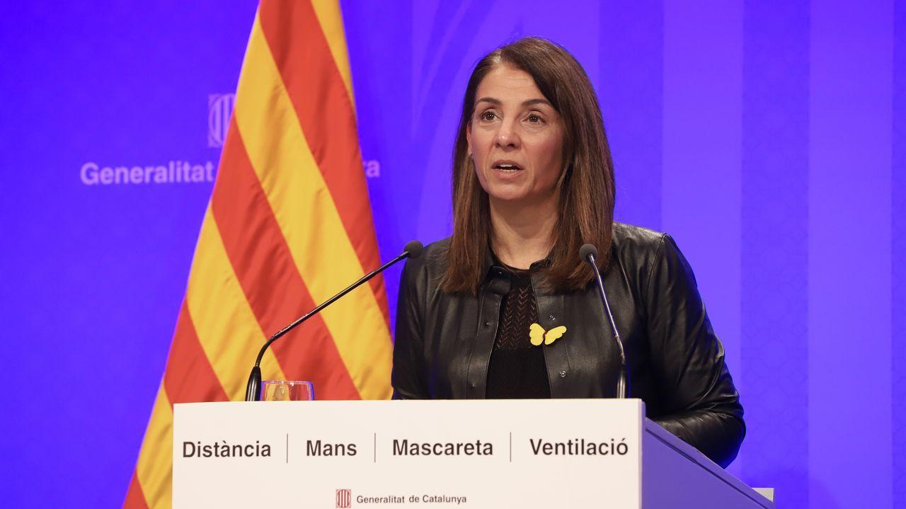 La portavoz del Gobierno catalán, Meritxell Budó
