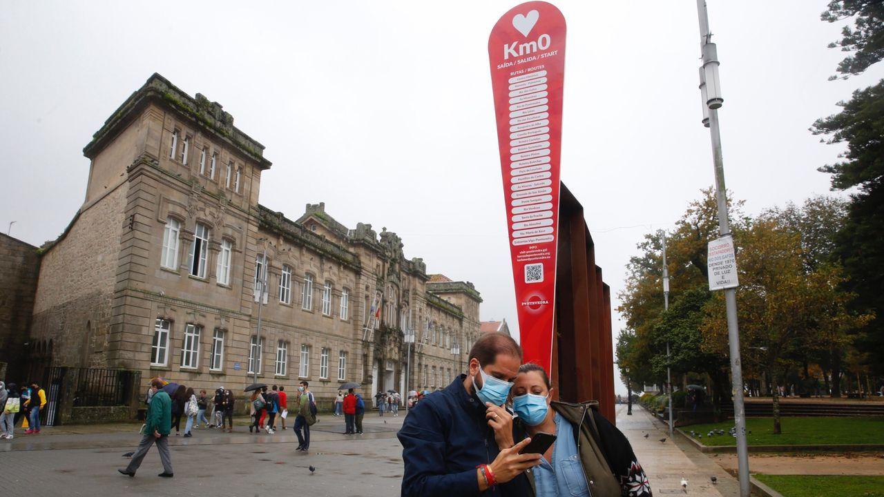 Estas son las rehabilitaciones puestas en marcha.Rúa da Santiña, por donde pasa el Camino Portugués a Santiago en el barrio de O Burgo de Pontevedra