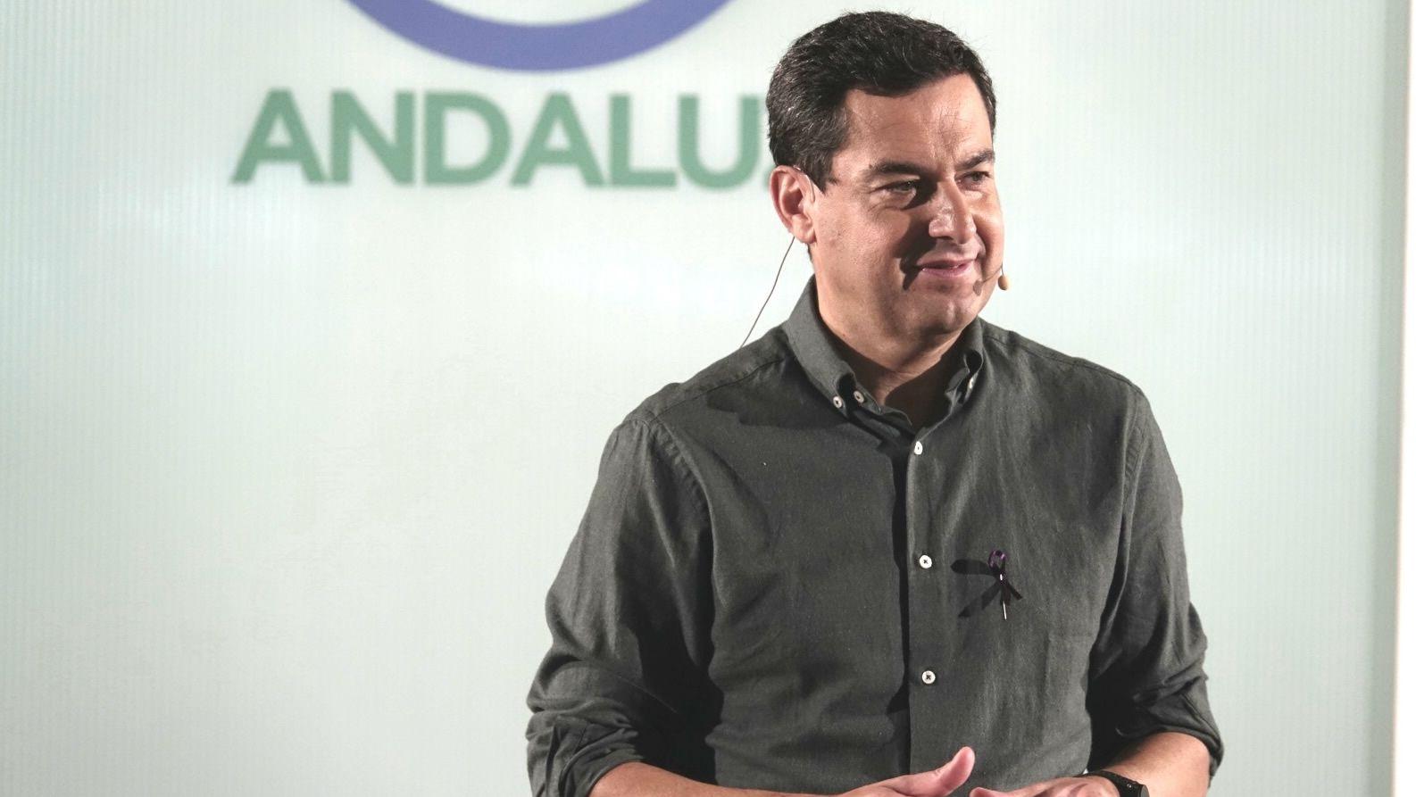 La polémica proyección de los papeles de Bárcenas.Moreno se juega liderar el PP andaluz
