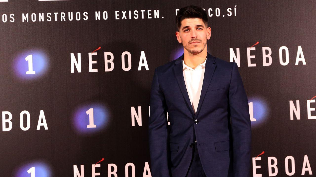 El actor de  «Néboa» Jorge Varandela, que intrepreta a Roi
