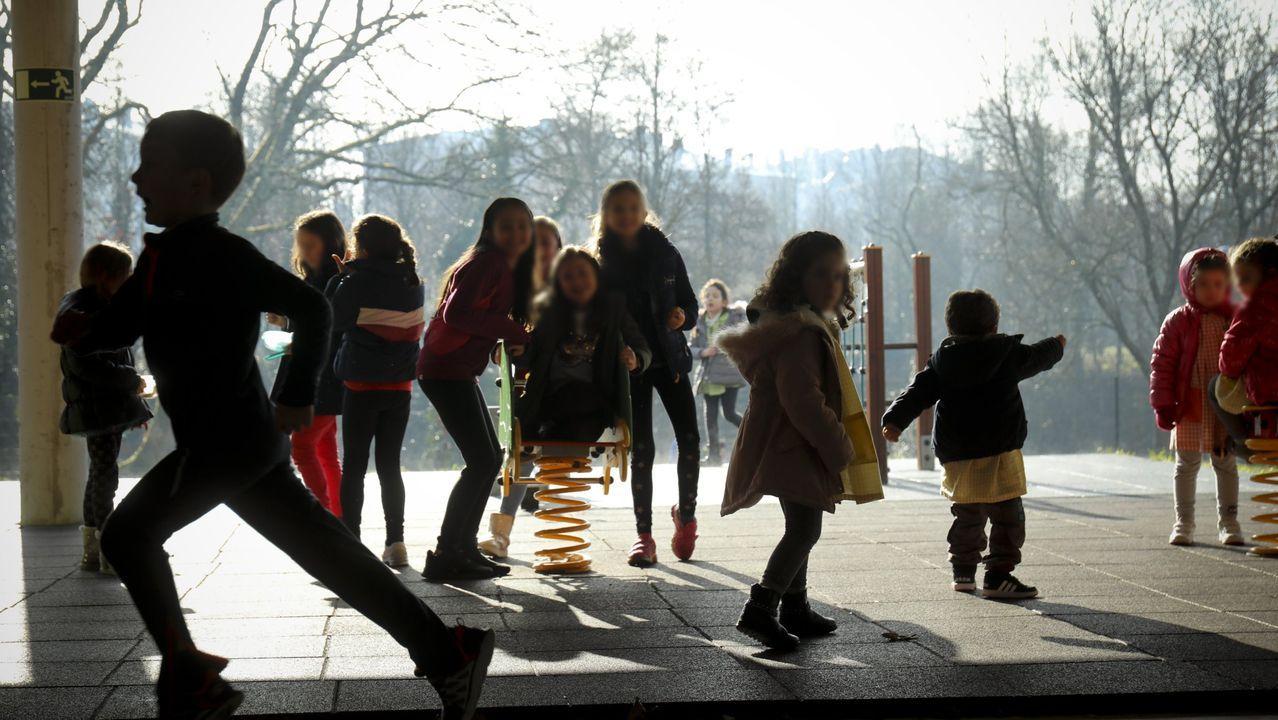 Alumnos en un centro escolar en Galicia