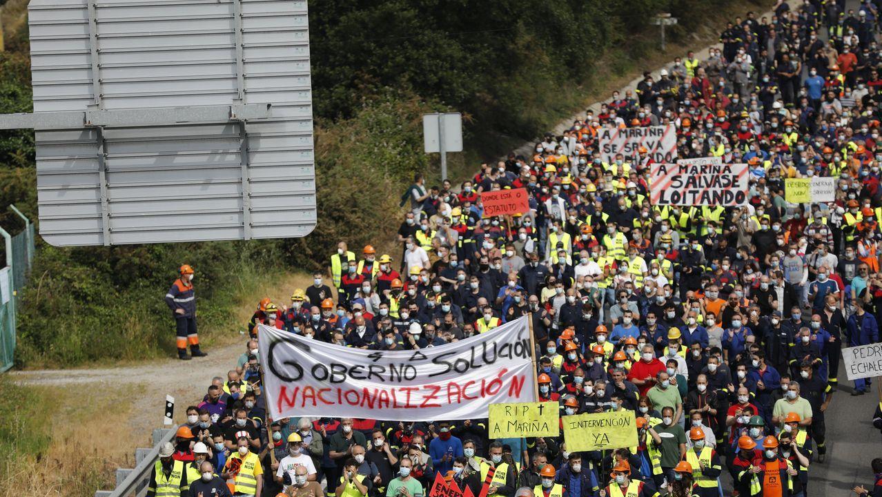 Vídeo de la alcaldesa de A Coruña apoyando a los trabajadores de la antigua Alcoa.Pedro Sánchez, en su comparecencia este miércoles en el Congreso de los Diputados, durante la que se refirió a Alcoa