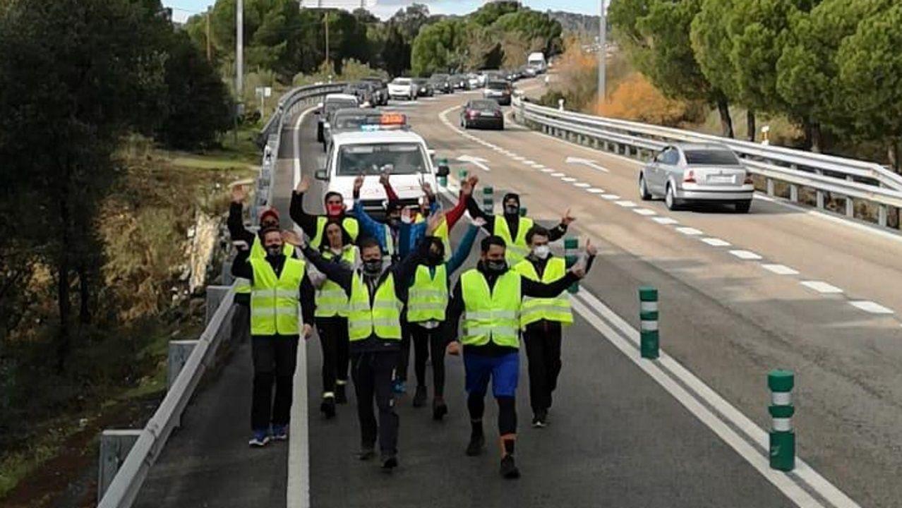 Última jornada de la peregrinación de hosteleros de Pontevedra a Madrid para exigir una solución para el sector