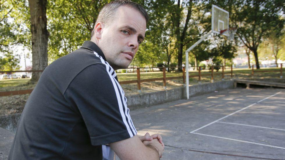 El entrenador Sergio Cubeiro, en Cabanas, donde descansa durante el mes de julio