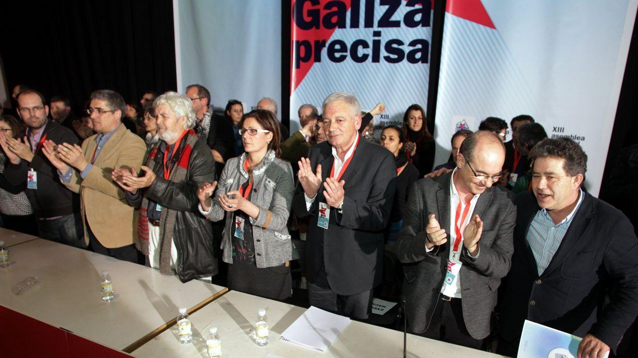 Clausura de la XIII Asamblea Nacional del BNG en Amio, en enero de 2012