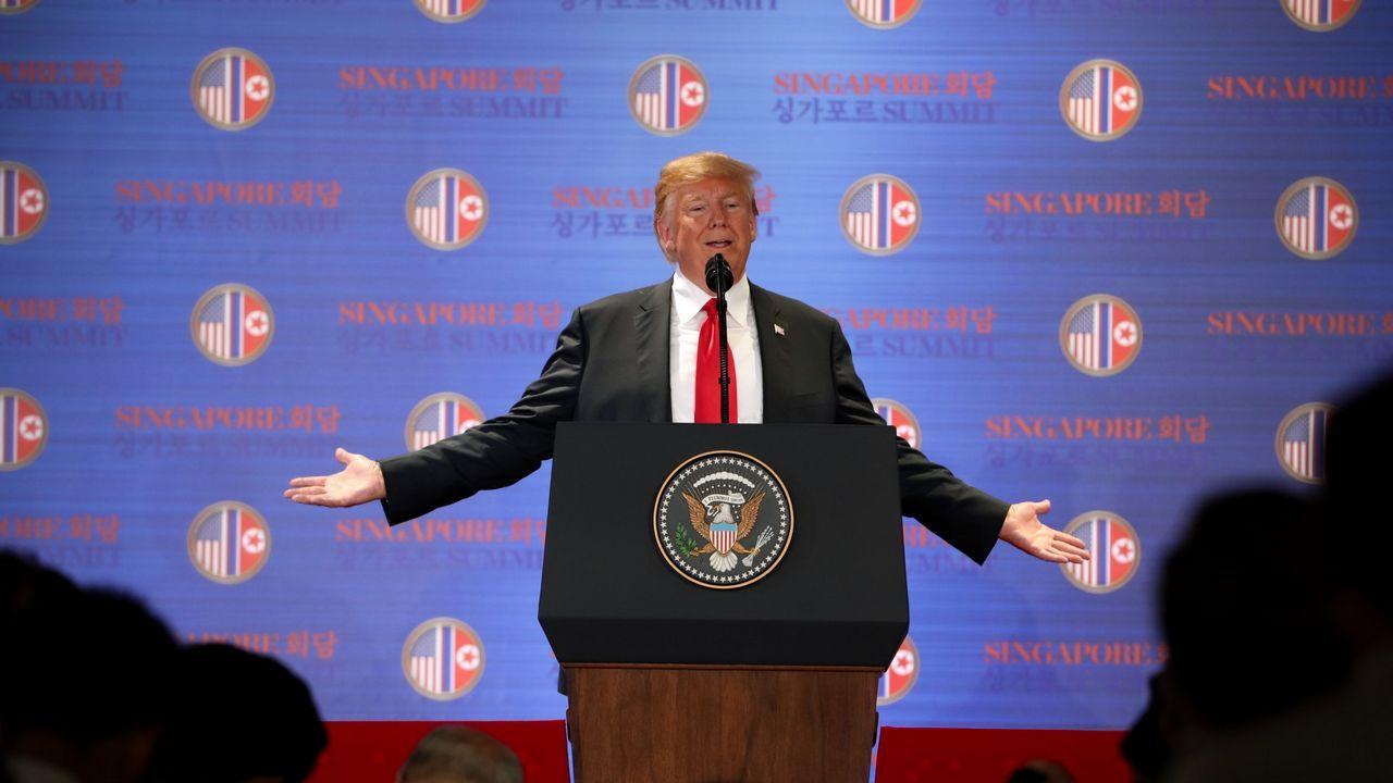 Paisaje seco de Ponga.Histórico encuentro entre Donald Trump y Kim JOng-un