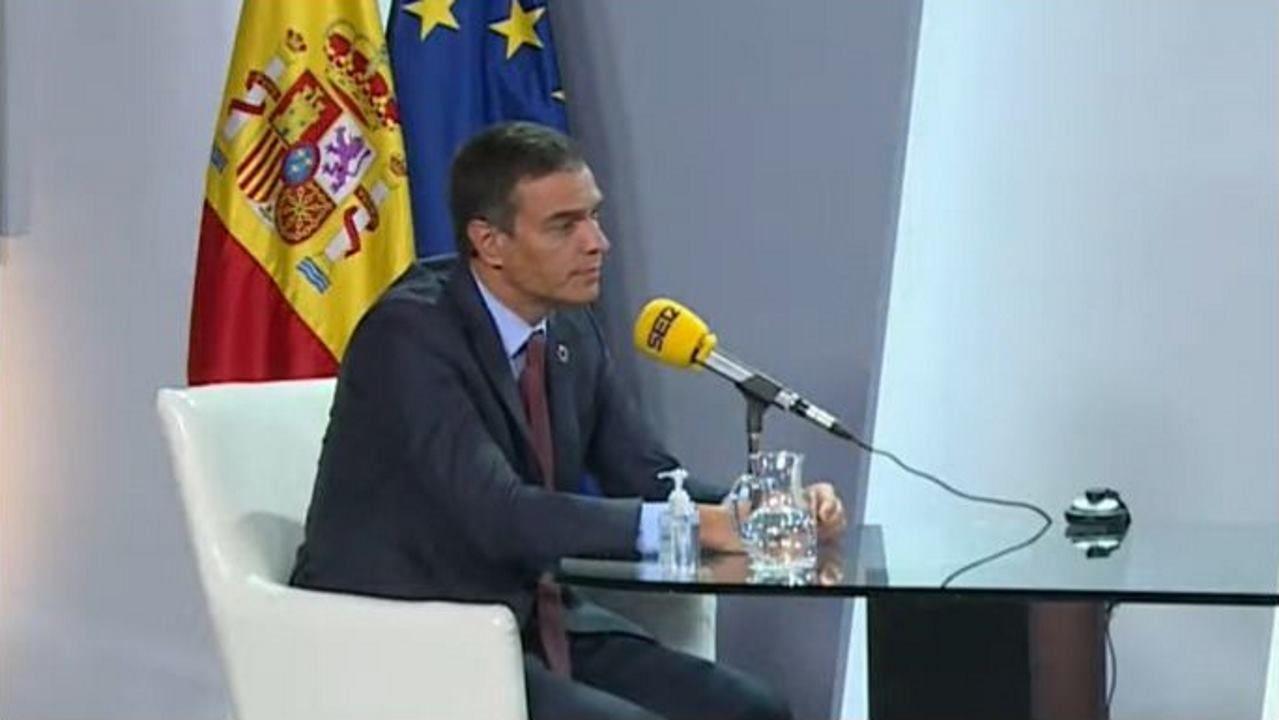 Pedro Sánchez, durante la entrevista radiofónica