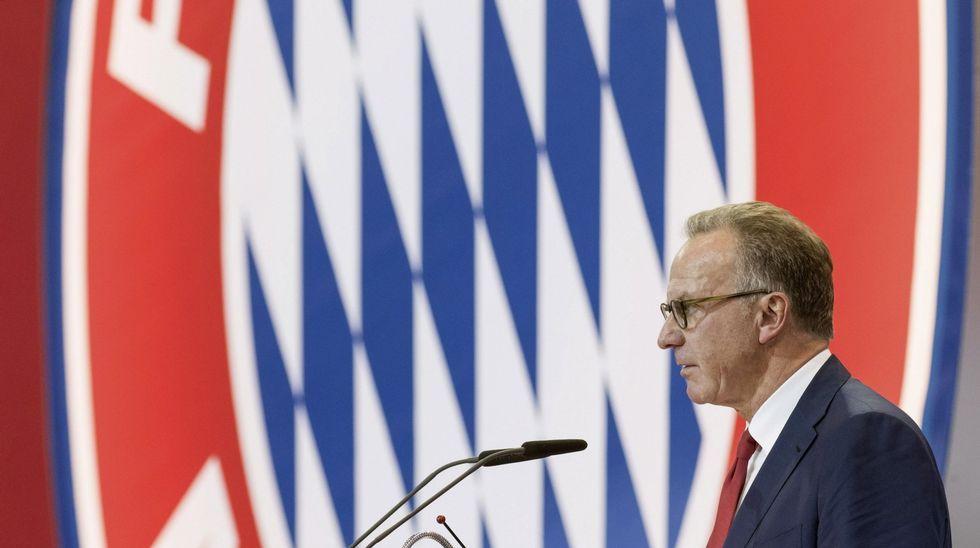 Rummenigge, en un acto del Bayern