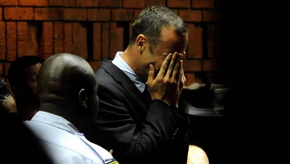 Las lágrimas de Pistorius en el juzgado