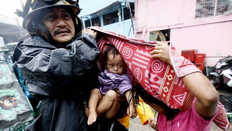 «Rammasun» arrasa Filipinas.Inundaciones en Filipinas