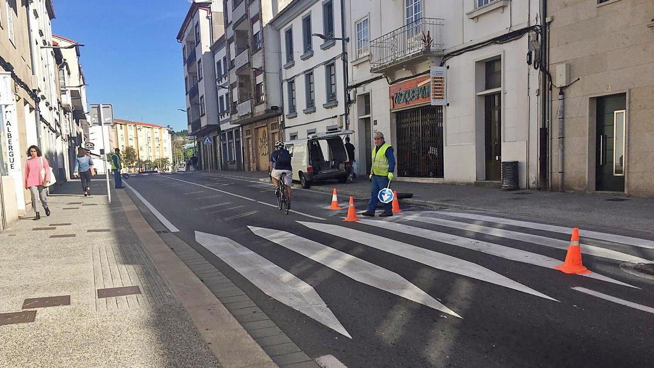 El temporal deja un reguero de incidencias en Santiago y comarcas.Jacqueline Duarte tiene a su perra guía Quinn desde hace un año