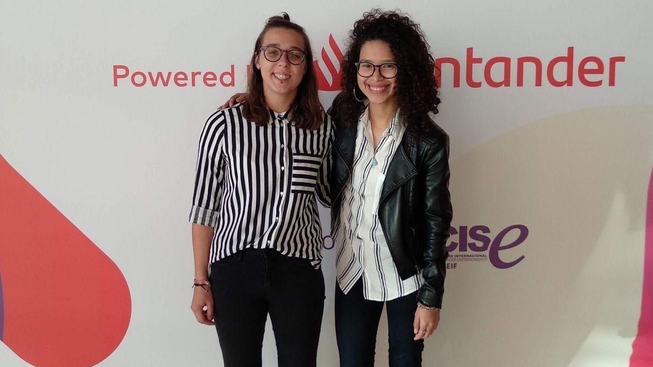 Daniela Lourenço y Andreina Vargas, de izquierda a derecha, están poniendo en marcha TimberSoul, proyecto centrado en la madera