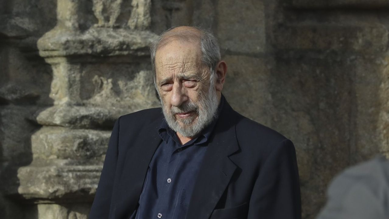 Así era el antiguo Oviedo.Álvaro de Siza, en Santiago en septiembre del 2018