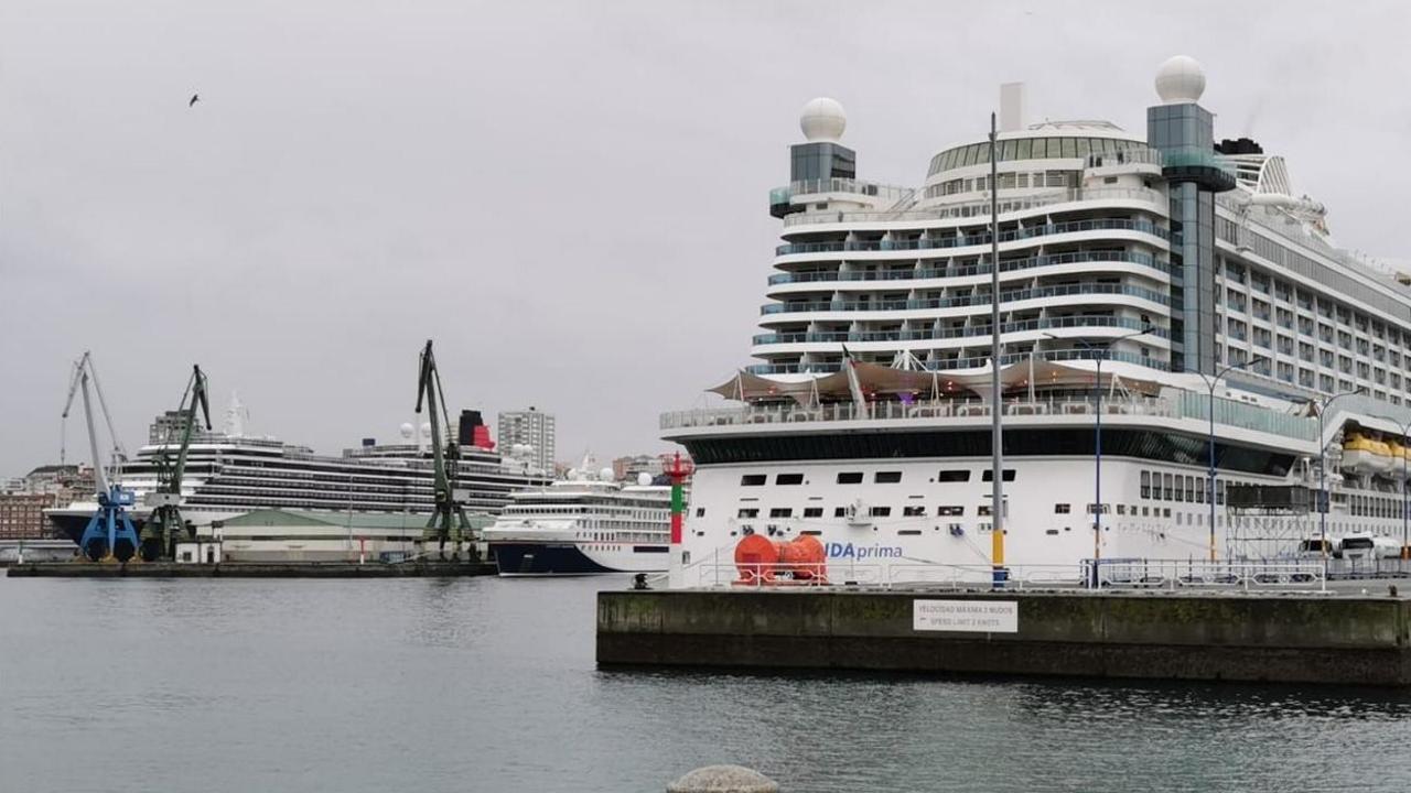 Triple escala de cruceros en A Coruña.Juan Carlos Unzué