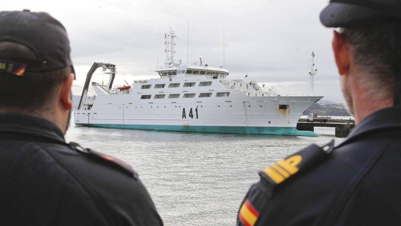 El buque escuela tiene su base en A Graña