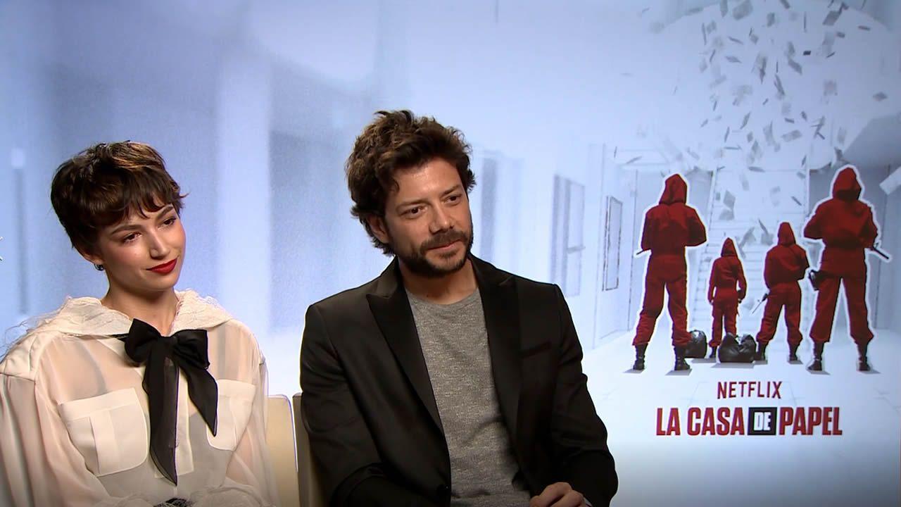 Morte y Corberó, «identificados» con los personajes de 'La Casa de Papel'