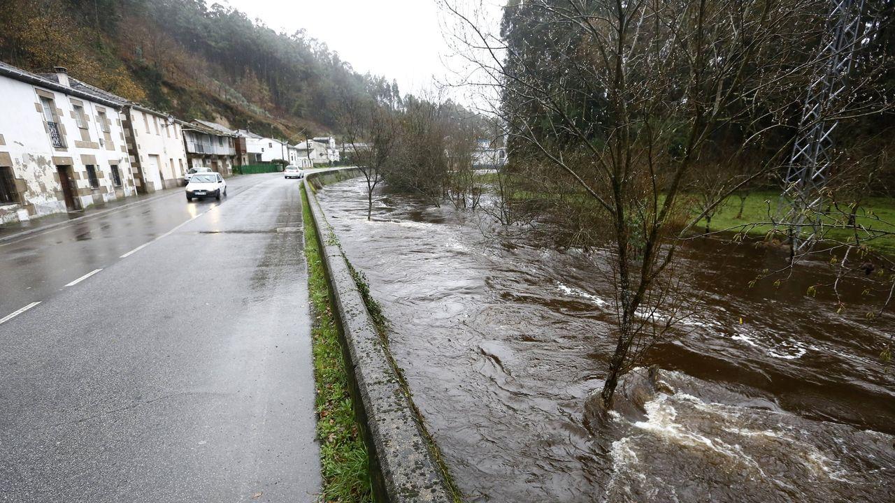Imagen del río Landro esta mañana