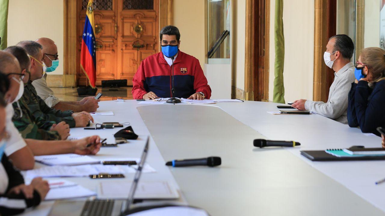 Maduro, durante una reunión para tratar la pandemia del coronavirus