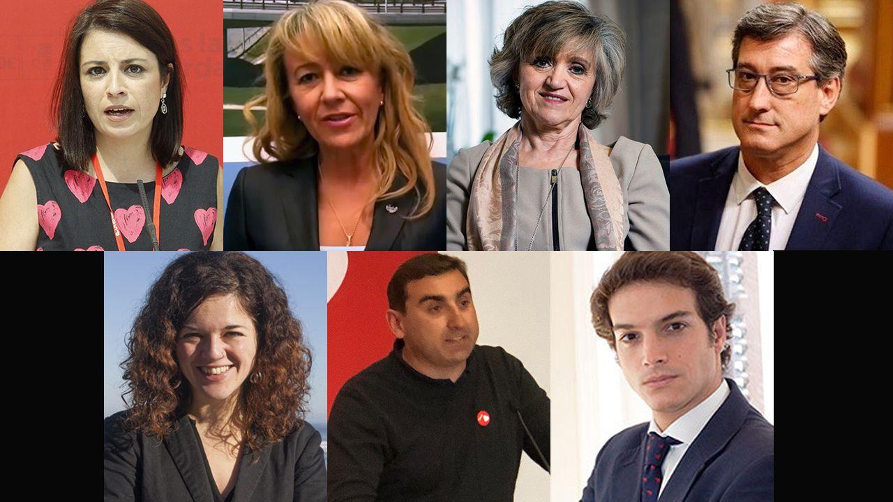 La élite de la justicia asturiana.Los siete diputados por Asturias de las elecciones de abril de 2019