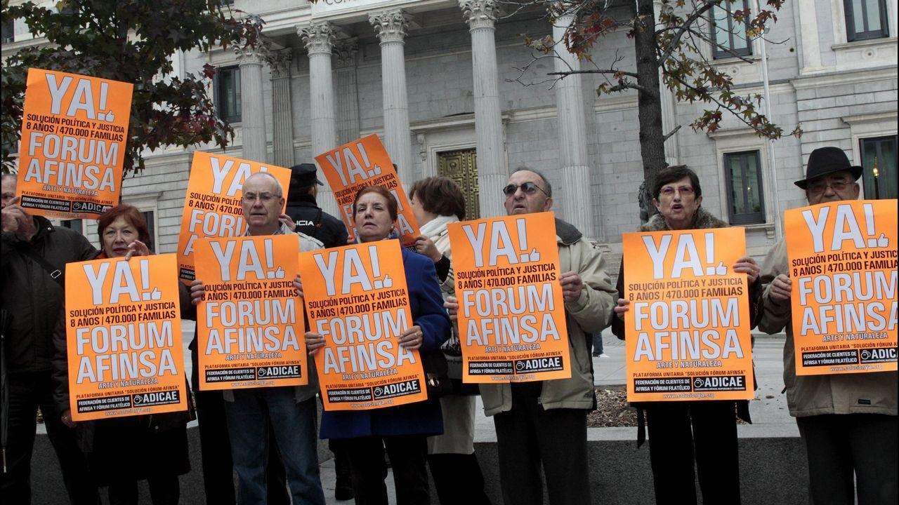 Imagen de archivo de una protesta de afectados
