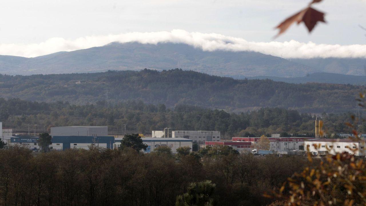 Vista del polígono industrial de O Reboredo y de los terrenos adyacentes