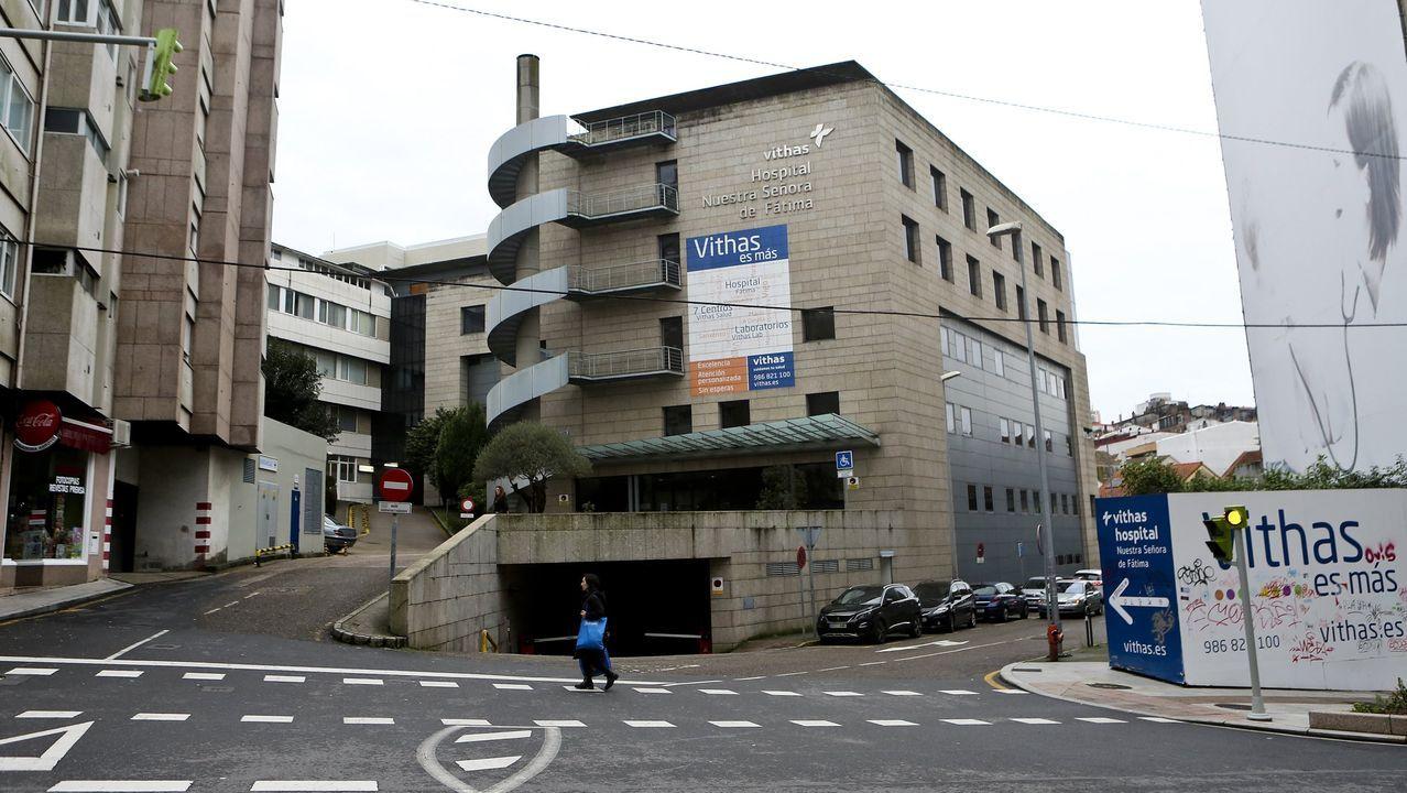 Caravana de la hostelería de Vigo contra las restricciones.Imagen de archivo de la sede cuando tuvieron el ascensor estropeado
