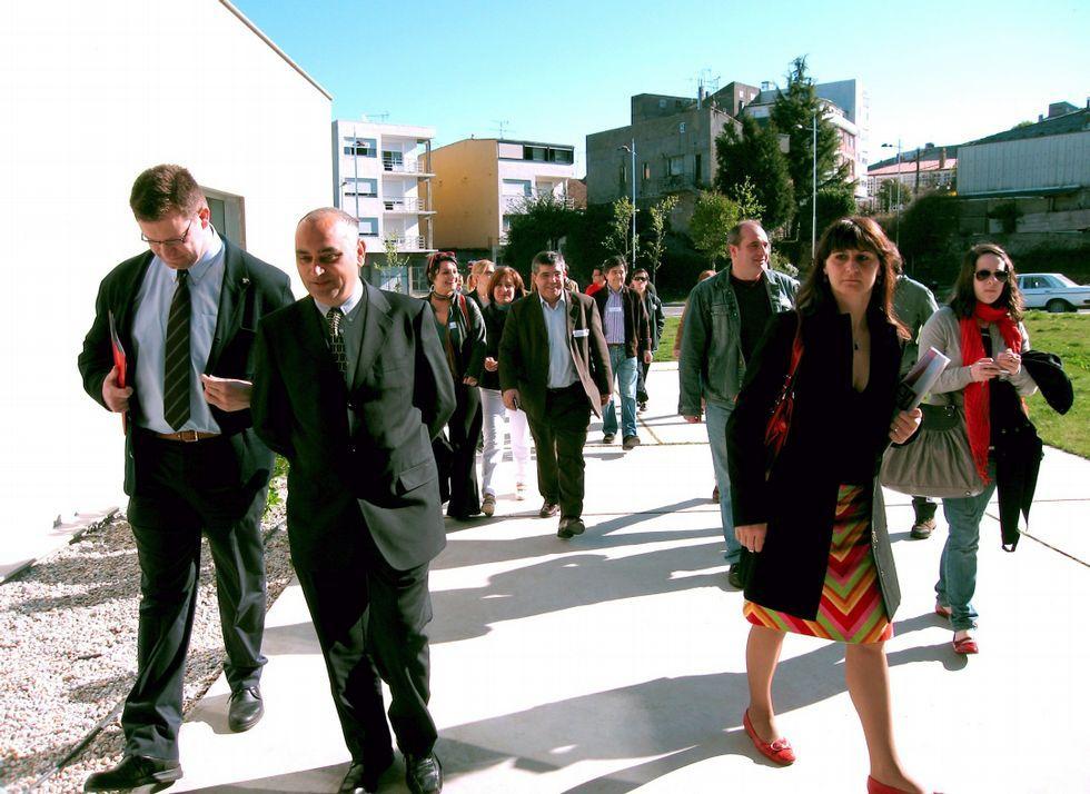 Los socialistas arroparon a la candidata lalinense.
