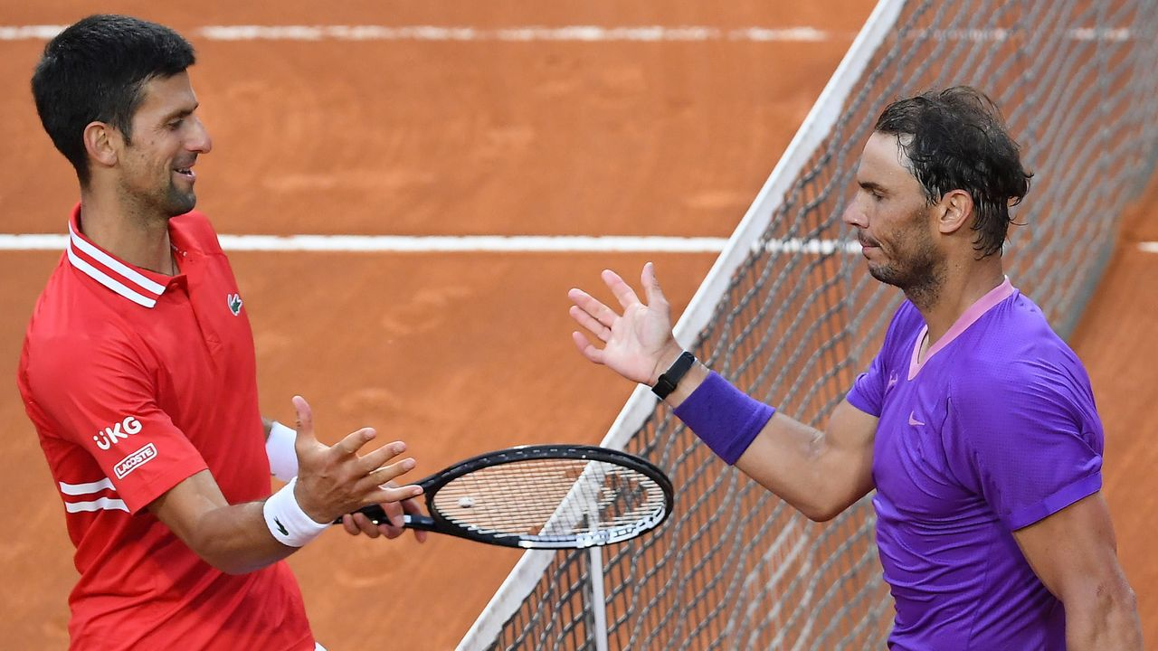 Alexei Popyrin, durante el encuentro que le midió a Rafa Nadal en el reciente Masters 1000 de Madrid
