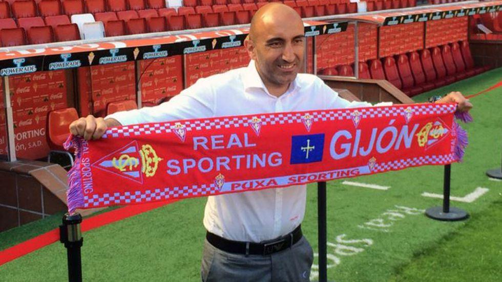 Abelardo, entrenador del Sporting.Abelardo, entrenador del Sporting