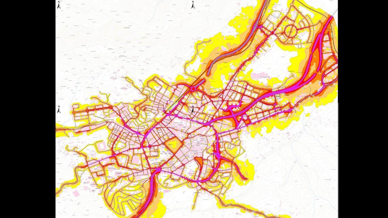 Mapa del ruido de Oviedo