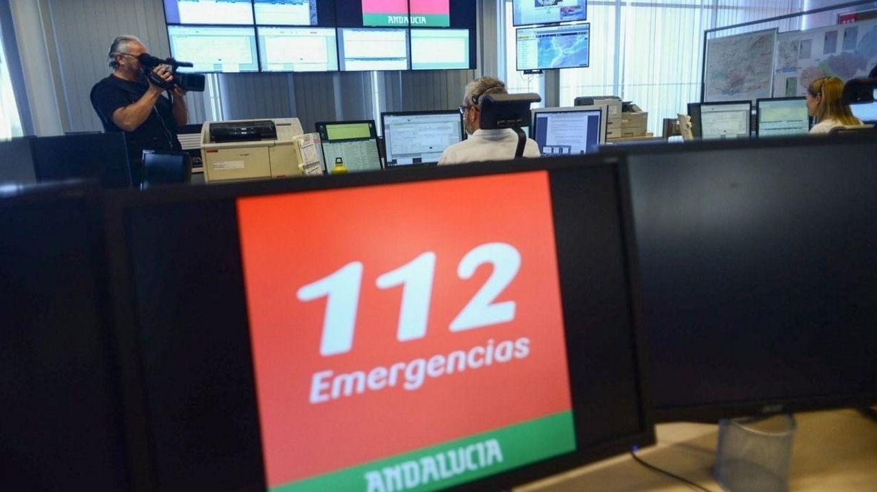 Centro de coordinación de emergencias del 112 en Andalucía