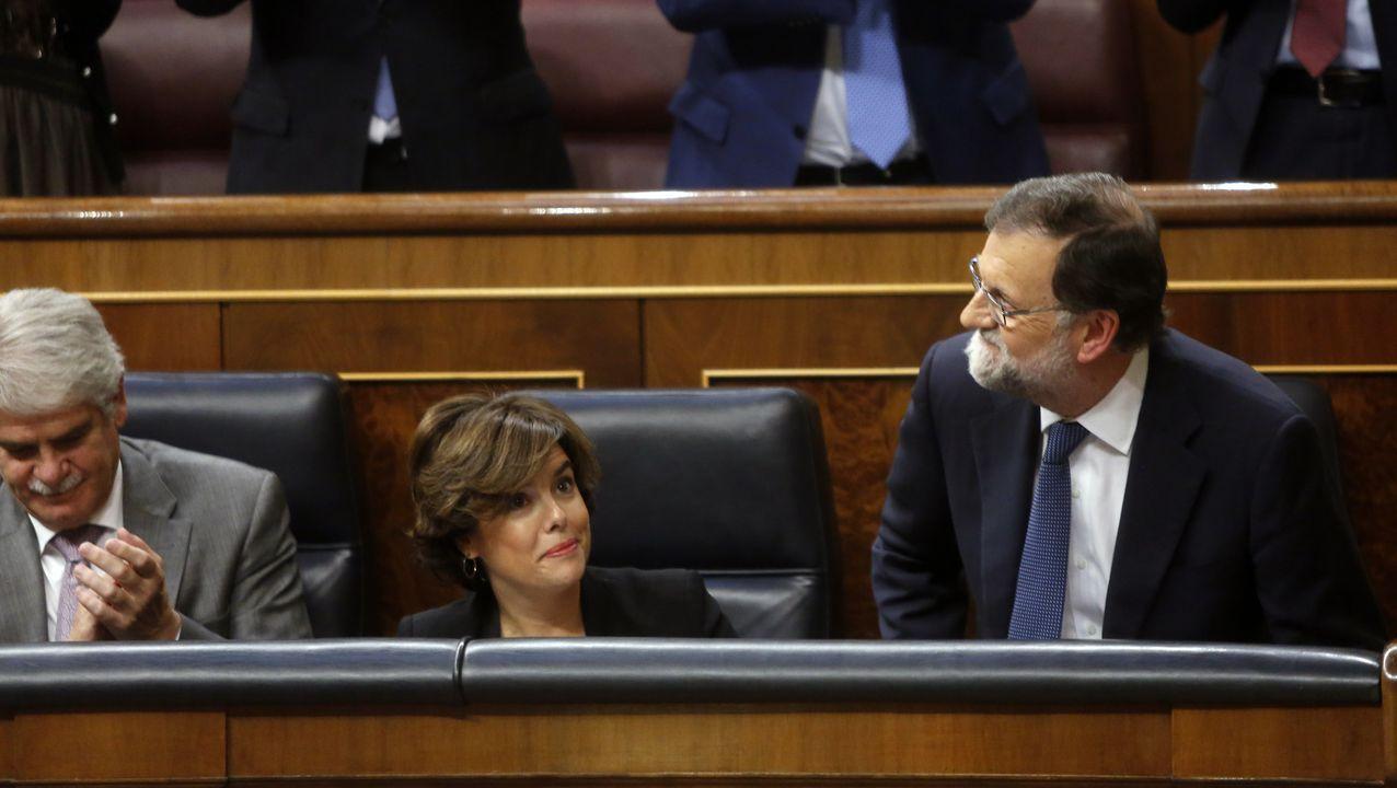 Sede del PP en la calle Génova de Madrid.Rajoy, en el Congreso, en su etapa como presidente del Gobierno