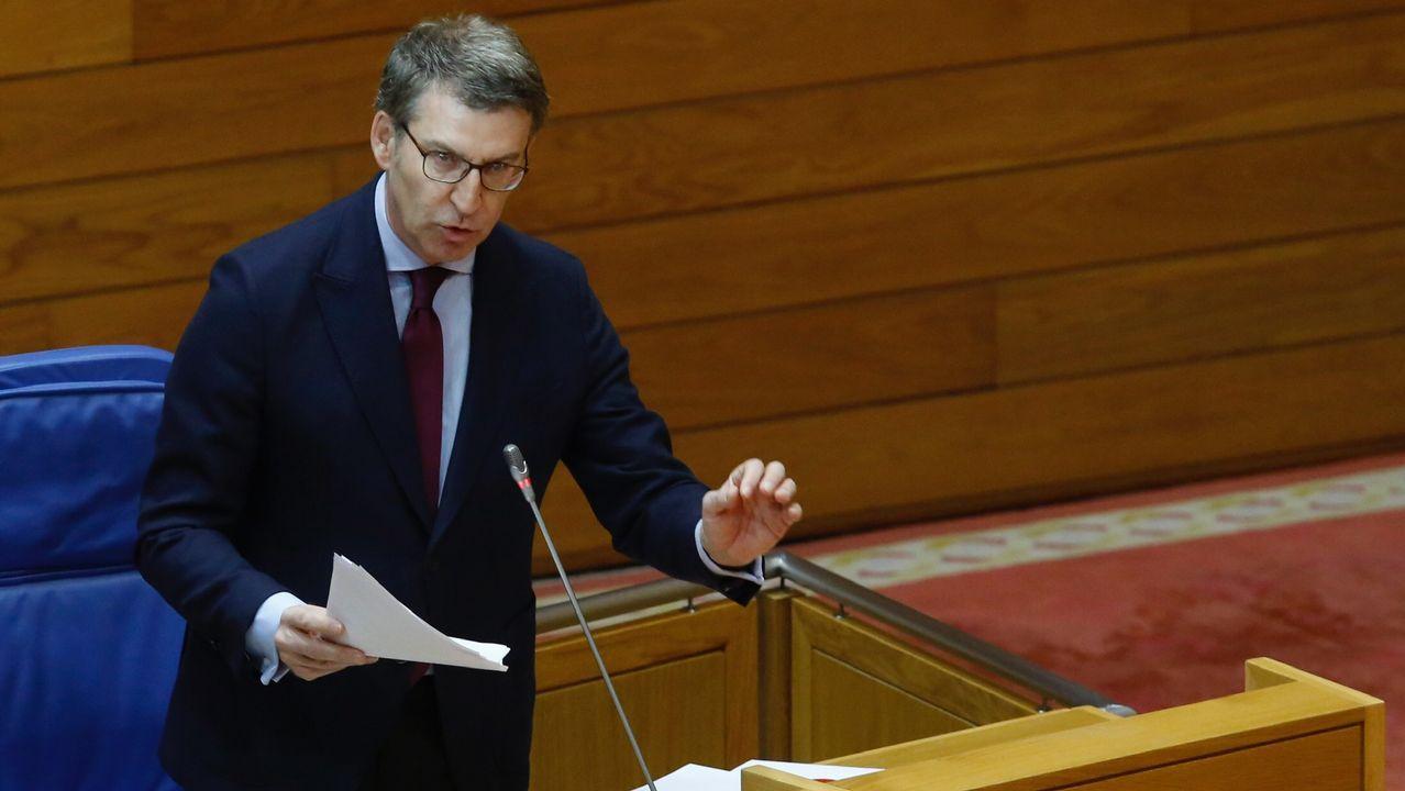 Villares lamenta el voto a favor de las cuentas de cuatro diputados de En Marea.Luís Villares y Xosé Manuel Beiras