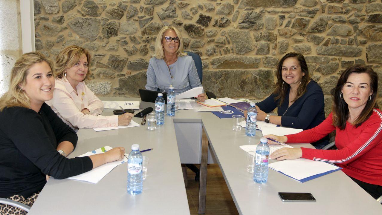 Roberto Castro, segundo por la izquierda, junto al diputado y secretario del PSOE lucense Álvaro Santos