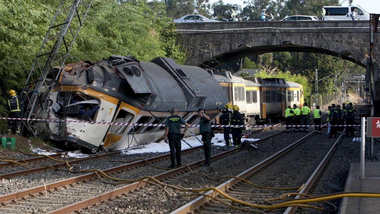 Así fue el momento en el que descarriló el Alvia en Angrois.El accidente del tren Celta causó cuatro muertos y 47 heridos, 13 de ellos graves