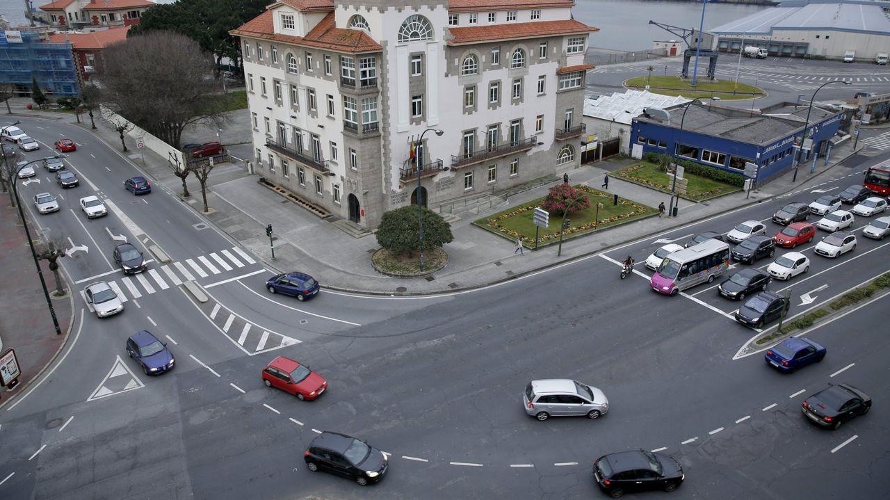 Operario de limpieza viaria en A Coruña