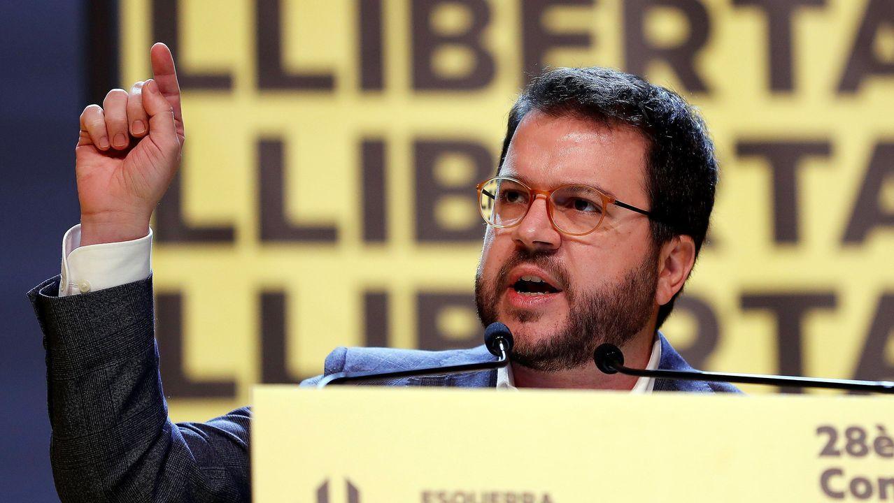 El coordinador general de ERC y vicepresidente de la Generalitat, Pere Aragonés