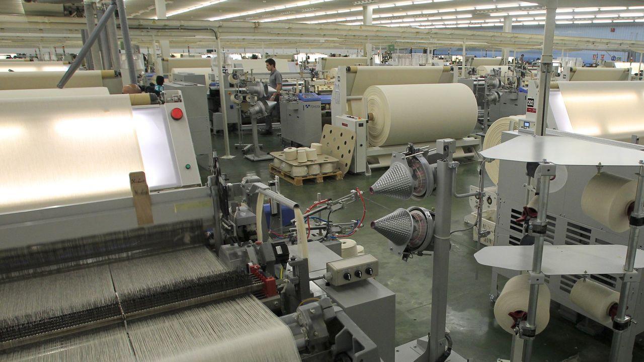 La fábrica de Galicia Textil, en una foto de archivo
