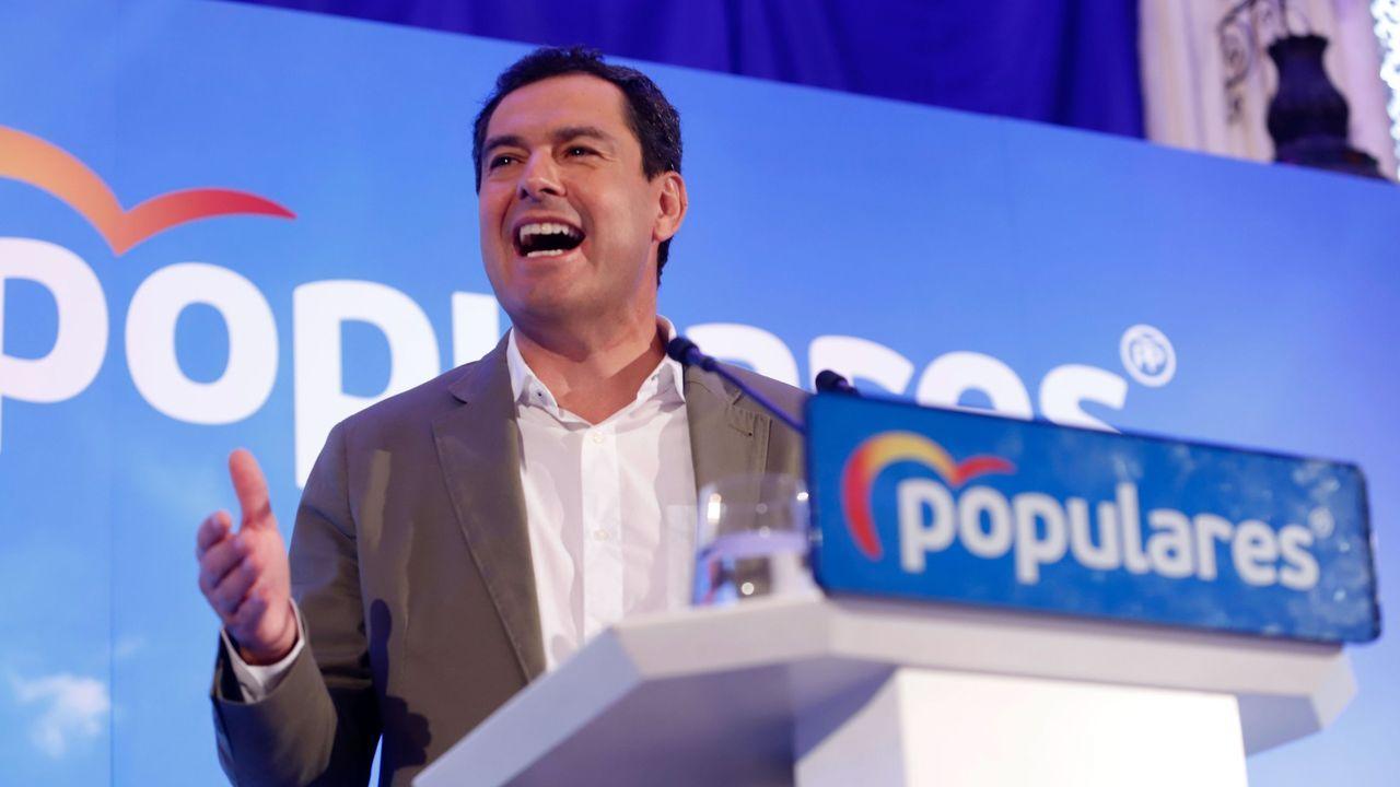 El presidente de la Junta de Andalucía, Juanma Moreno Bonilla