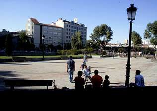 La plaza de Barcelos se acondicionó con criterios muy diferentes a los que sugirió Calatrava