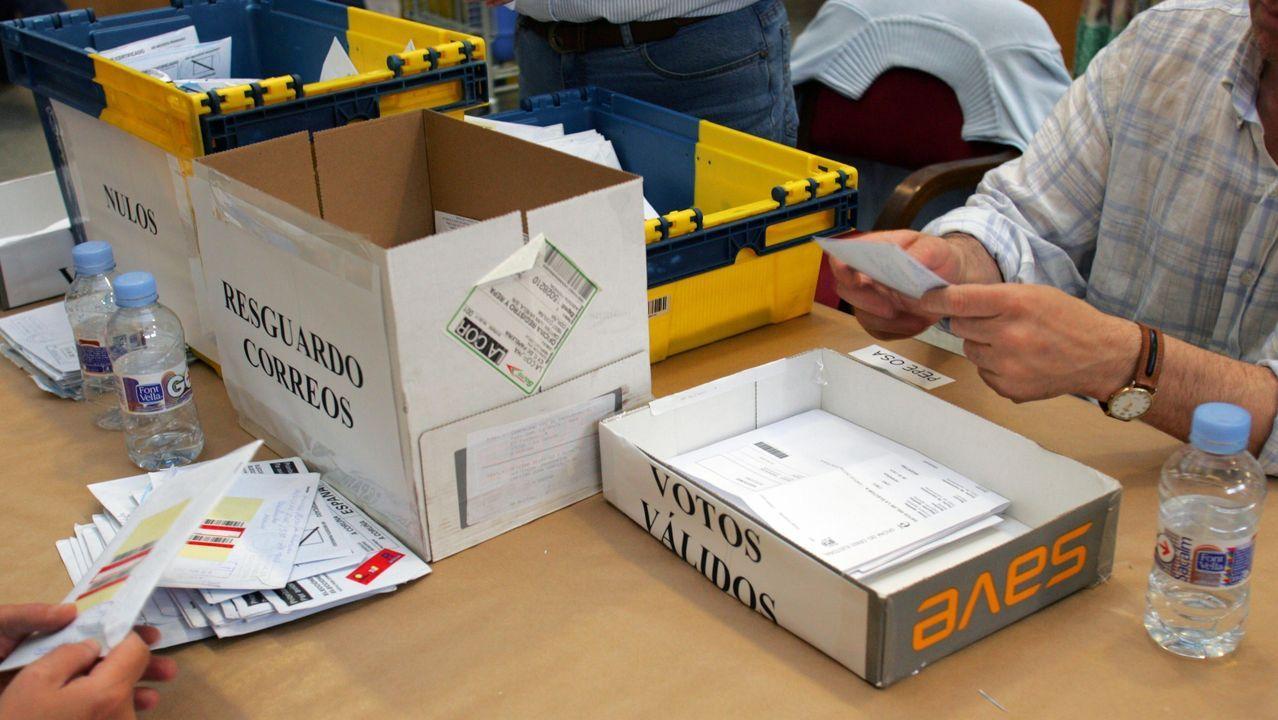 Imagen de archivo del recuento del voto emigrante