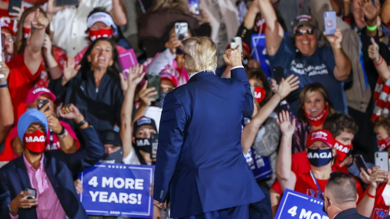 Trump en un mitin en Macon, Georgia
