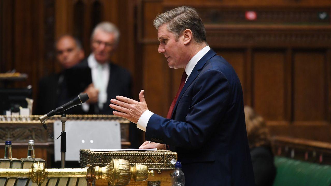 El líder laborista, Keir Starmer, en una intervención en septiembre en la Cámara de los Comunes