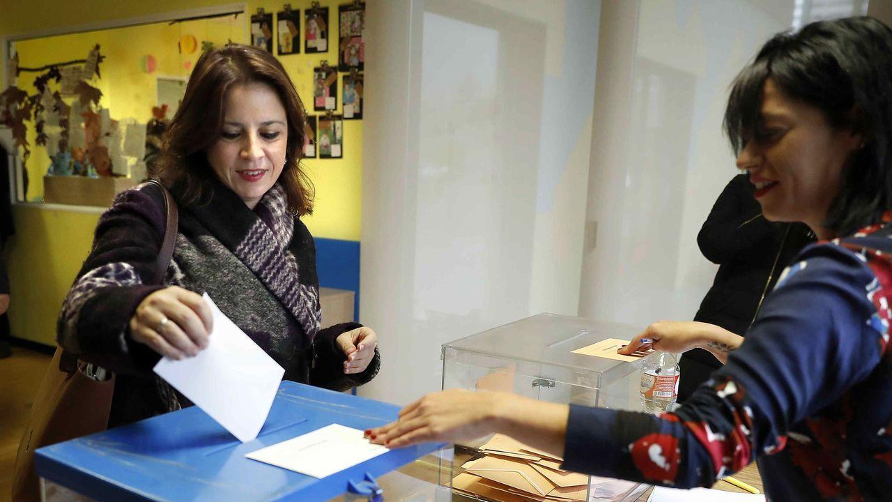 Los candidatos de Asturias votan.Diputados por Asturias tras el 10N