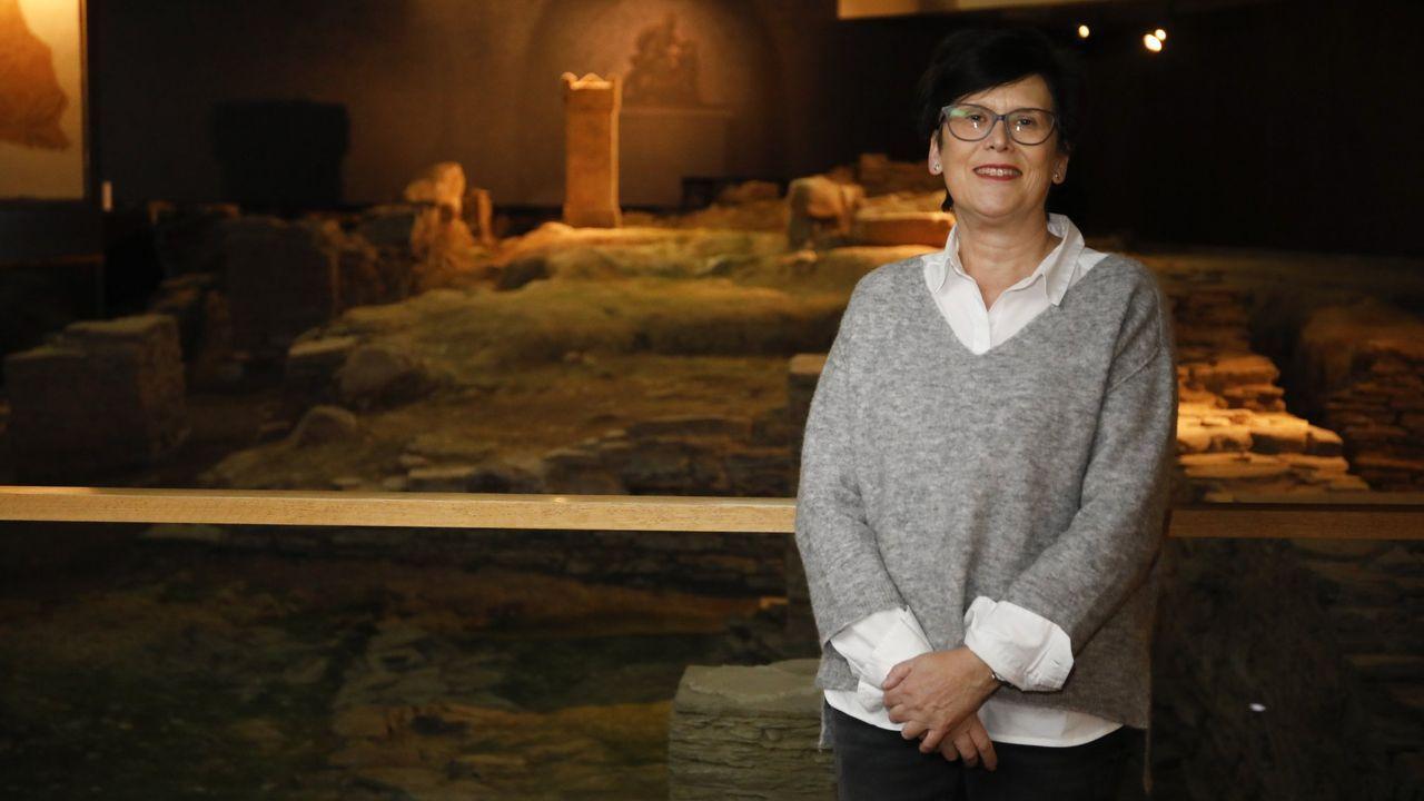 Dolores Dopico, directora de la Domus do Mitreo y profesora de la Facultade de Humanidades de Lugo